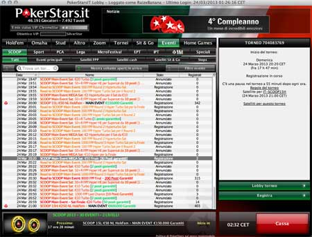 Pokerstars Scoop 15 Satelliti