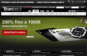 Titan Bet poker download sito in italiano