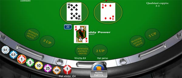 blackjack online 21 duello a blackjack