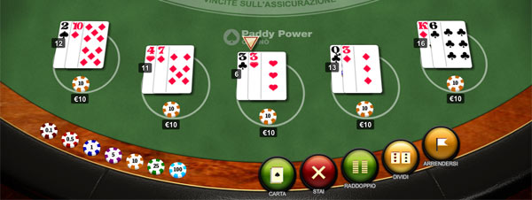 blackjack online surrender casino italiani
